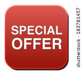 special offer icon  | Shutterstock .eps vector #183781457