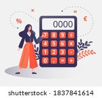 female professional with... | Shutterstock .eps vector #1837841614