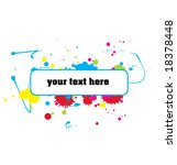 color paint splashes banner.... | Shutterstock .eps vector #18378448