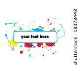 color paint splashes banner.... | Shutterstock .eps vector #18378448