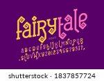 faitytale style font design ... | Shutterstock .eps vector #1837857724