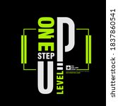 one step up level  modern and... | Shutterstock .eps vector #1837860541