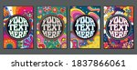 1960s style psychedelic...   Shutterstock .eps vector #1837866061