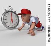 3d render of cartoon sports... | Shutterstock . vector #1837870531