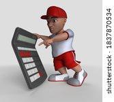 3d render of cartoon sports... | Shutterstock . vector #1837870534
