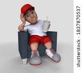 3d render of cartoon sports... | Shutterstock . vector #1837870537