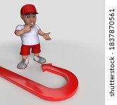 3d render of cartoon sports... | Shutterstock . vector #1837870561