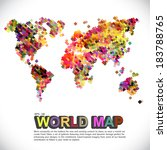colorful   dotted world map | Shutterstock .eps vector #183788765