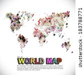 colorful   dotted world map | Shutterstock .eps vector #183788771