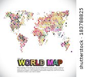 colorful   dotted world map | Shutterstock .eps vector #183788825