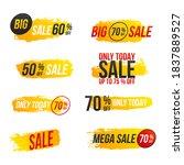 mega sale  creative flyer. big... | Shutterstock .eps vector #1837889527