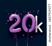 20k sign violet balloons with... | Shutterstock .eps vector #1837919377