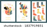 set of vector cards or banners... | Shutterstock .eps vector #1837919851