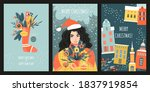 set of vector cards or banners... | Shutterstock .eps vector #1837919854