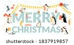 vector banner for christmas and ... | Shutterstock .eps vector #1837919857