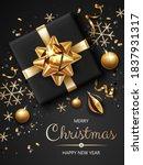vertical banner with golden and ... | Shutterstock .eps vector #1837931317