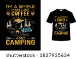 i'm a simple man i like coffee... | Shutterstock .eps vector #1837935634