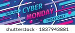 cyber monday concept promotion... | Shutterstock .eps vector #1837943881