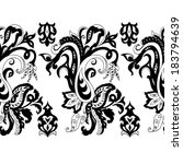 hand drawn paisley seamless... | Shutterstock . vector #183794639