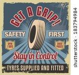 vintage metal sign. retro... | Shutterstock .eps vector #183794984