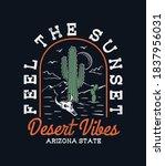 desert theme vector artwork for ... | Shutterstock .eps vector #1837956031