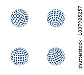 wire world logo template vector ... | Shutterstock .eps vector #1837985257