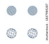 wire world logo template vector ... | Shutterstock .eps vector #1837985287