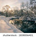 Winter Landscape.frosty Scene...
