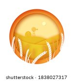 agriculture field with...   Shutterstock .eps vector #1838027317