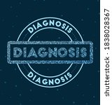 diagnosis. glowing round badge. ...   Shutterstock .eps vector #1838028367