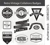 vintage retro badges and labels | Shutterstock .eps vector #183802871