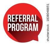 referral program red label... | Shutterstock .eps vector #1838048851