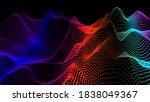 sea waves from node. hud data...   Shutterstock .eps vector #1838049367