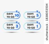 10 5 3 1 days left. countdown...   Shutterstock .eps vector #1838053504