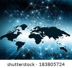 best internet concept of global ... | Shutterstock . vector #183805724