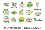 st patricks day stickers icons... | Shutterstock .eps vector #1838062324