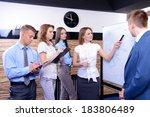 business people working in... | Shutterstock . vector #183806489