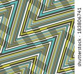 abstract ornate striped... | Shutterstock . vector #183806741