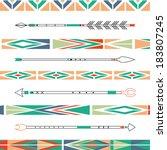 arrows  indian elements  aztec... | Shutterstock .eps vector #183807245