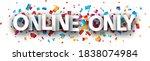 white capital letters online... | Shutterstock .eps vector #1838074984