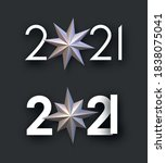 set of 2021 white signs with...   Shutterstock .eps vector #1838075041
