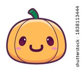 isolated happy halloween... | Shutterstock .eps vector #1838113444