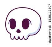isolated skull cartoon kawaii.... | Shutterstock .eps vector #1838113807