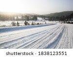 Tire Tracks In The Snow  Winter ...