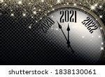 clock hands showing 2021 year...   Shutterstock .eps vector #1838130061