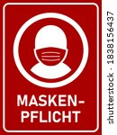 "maskenpflicht  ""face mask...   Shutterstock .eps vector #1838156437"