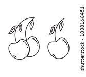 cherry icon  outline vector ... | Shutterstock .eps vector #1838166451