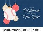 baseball holiday banner. merry...   Shutterstock .eps vector #1838175184