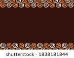 seamless horizontal border... | Shutterstock .eps vector #1838181844