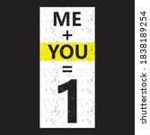 me plus you 1 typography t...   Shutterstock .eps vector #1838189254